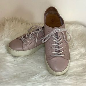 UGG Lena Low Lace Up Leather Sneakers Sz-6.5